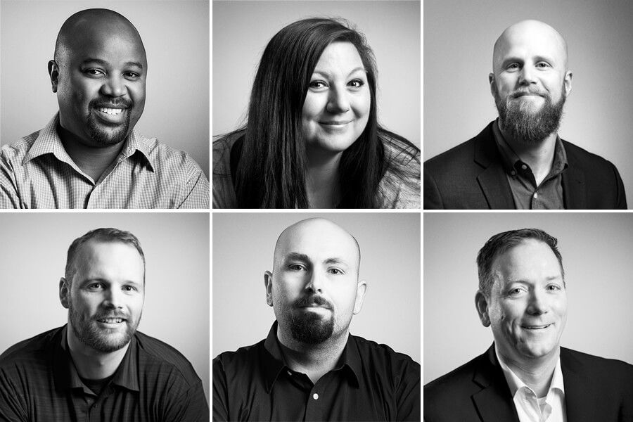 black and white portraits of alliant systems employees