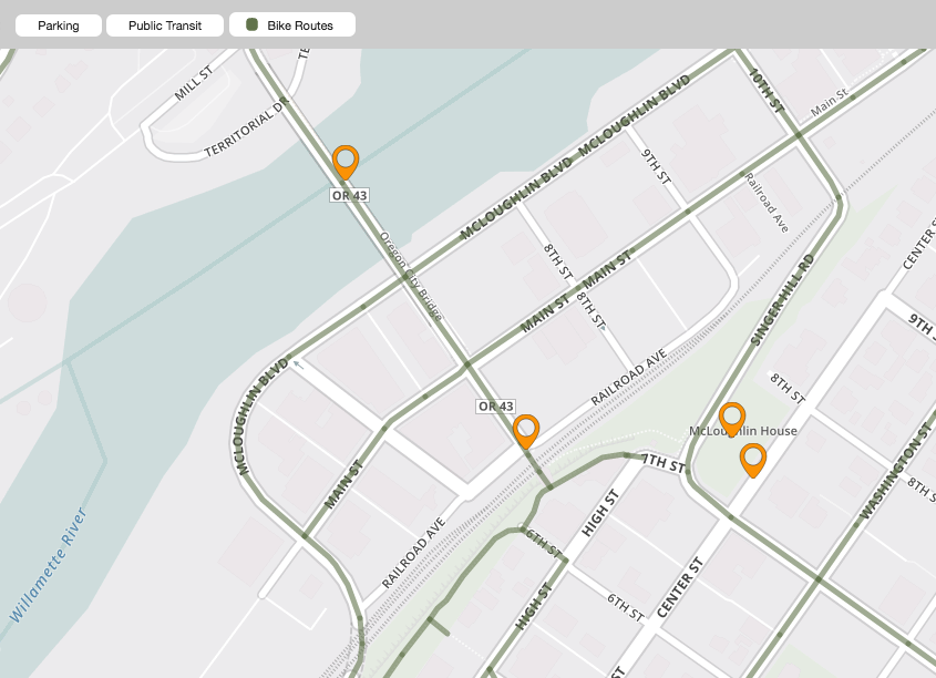 map of downtown oregon city – website design philosophy – utility