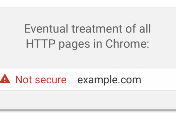google non-secure page notification